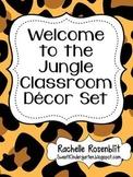 Jungle Print Classroom Decor Set