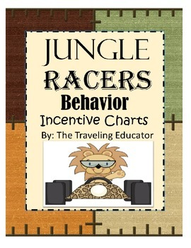 Incentive Chart with a Jungle Racers Theme