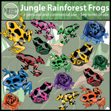 Jungle Rainforest Frogs Clip Art {Messare Clips and Design}