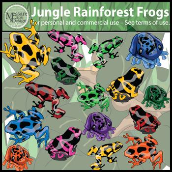 Jungle Rainforest Frogs Clip Art {Messare Clips and Design}