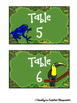 Jungle / Rainforest Table Labels (Baskets, team points, etc)