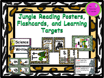 Jungle Reading Posters, Flashcards, and Learning Targets