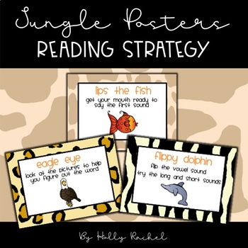 Jungle Reading Strategy Posters