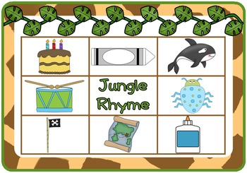 Jungle Rhyming Bingo