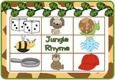 Jungle Rhyming Bingo