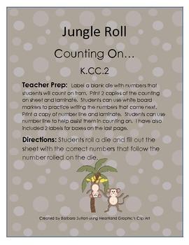 Jungle Roll Common Core Math Game