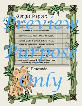 Jungle Rules of the Jungle Behavior Reports