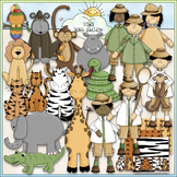 Jungle Safari - CU Clip Art & B&W Set