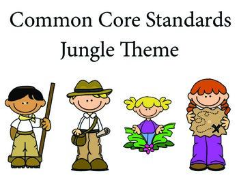 Jungle Safari 1st grade English Common core standards posters