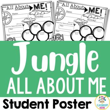 "Jungle Safari Theme: ""All About Me"" Poster"