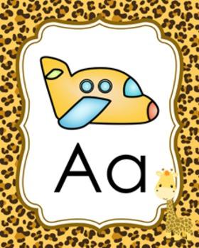 Jungle Safari Alphabet Posters A-Z