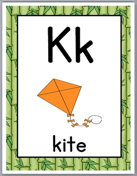 Jungle Safari Classroom Decor Alphabet Posters with Primary Font