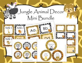Jungle Safari Animal Decor Mini Bundle