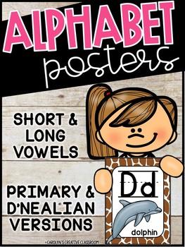 Jungle & Safari Animal Print Alphabet Posters