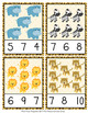 Jungle Safari Animals Count and Clip Cards Numbers 1-12