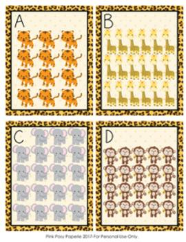 Jungle Safari Animals Teen Numbers Count the Room 11-20