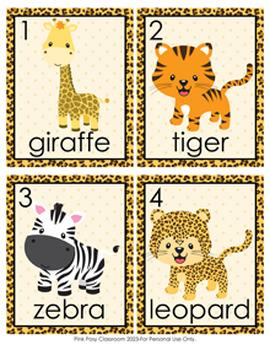 Jungle Safari Animals Write the Room Activity
