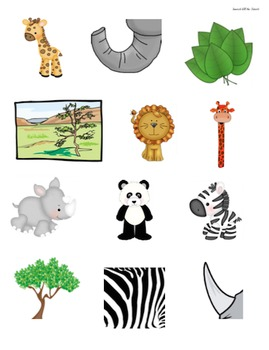 Jungle Safari--Answering Who, What & Where Questions