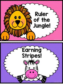 Jungle Safari Behavior Chart