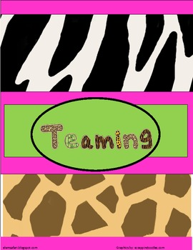 Jungle Safari Binder Covers and Spines