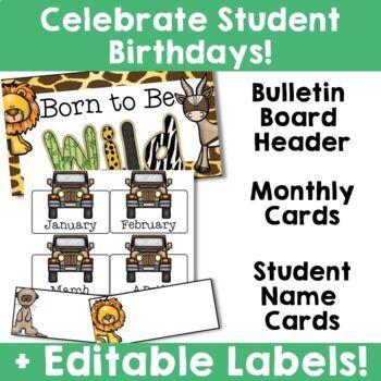 Jungle Safari Theme: Birthday Resources (Editable)