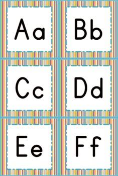 Jungle Safari Blue Stripes Themed Word Wall Labels