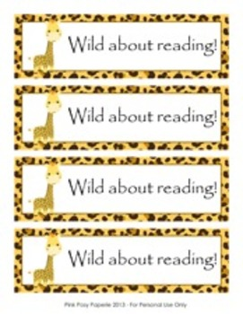 Jungle Safari Bookmarks