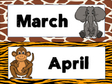 Jungle/Safari Calendar