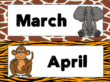 Jungle/Safari Calendar