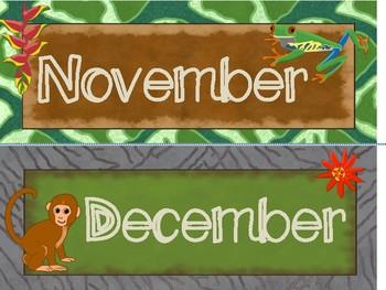 Jungle Safari Calendar
