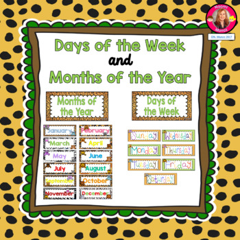 Jungle Safari Calendar Set