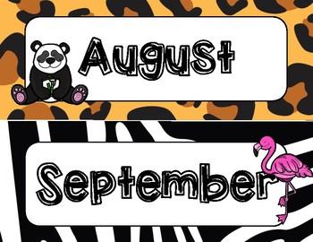 Jungle/Safari Calendar Set
