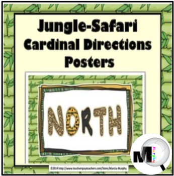 Jungle Theme Classroom Decor - Cardinal Direction Signs