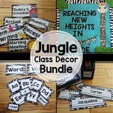 Jungle / Safari Class Decor Bundle