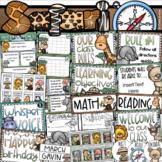Jungle Safari Class Management Decor Bundle (Rules, Brag Tags, Newsletter)