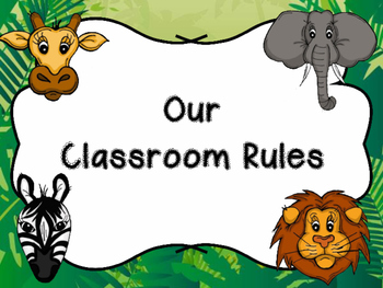 Jungle/Safari Class Rules