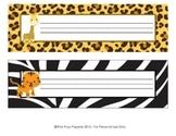 Jungle Safari Classroom Decor Desk Name Plates