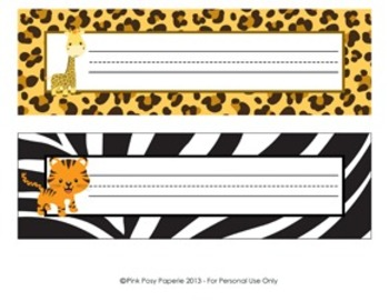 Jungle Safari Classroom Decor Desk Name Plates