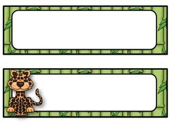 Jungle Safari Classroom Decor Pack #1