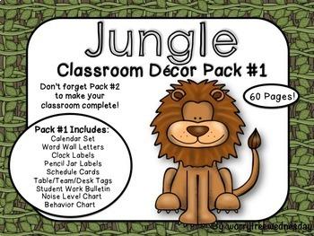 [EDITABLE!] Jungle Safari Classroom Decor Pack #1