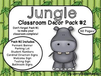 [EDITABLE!] Jungle Safari Classroom Decor Pack #2