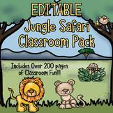 Jungle Safari Classroom Decor Pack