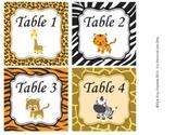 Jungle Safari Classroom Decor Table Number Tags