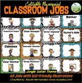 EDITABLE Classroom Jobs with Pictures {Jungle Safari Themed}