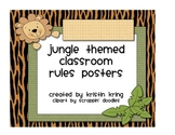 Jungle Safari Classroom Rules Posters