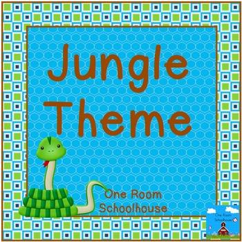 Jungle-Safari Classroom Theme
