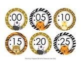 Jungle Safari Clock Number Labels
