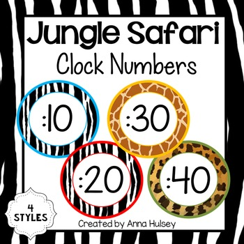 Jungle Safari Clock Numbers