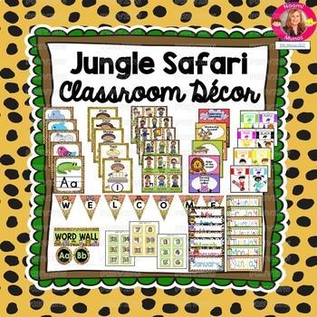 Jungle Safari Decor BUNDLE {Editable and PDF}