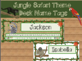 Jungle Safari Desk Name Tags (Editable)